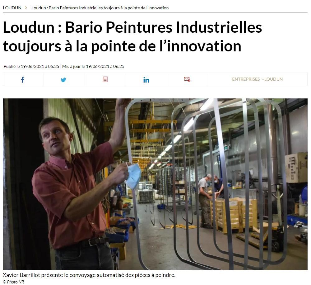 Read more about the article Loudun : Bario Peintures Industrielles toujours à la pointe de l'innovation